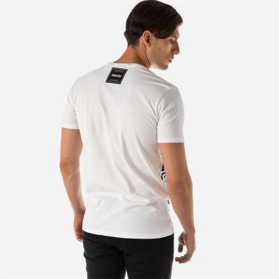 ΑΝΔΡΙΚΟ T-SHIRT BROKERS NOISE - Λευκό - 20012-209-01-WHITE