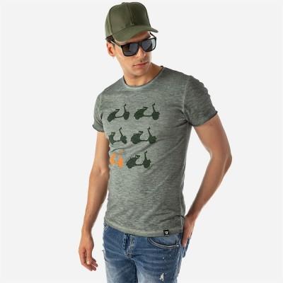 ΑΝΔΡΙΚΟ T-SHIRT  GREEN VESPA BROKERS - ΧΑΚΙ - 20012-234-05-KHAKI