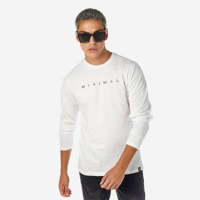 ΑΝΔΡΙΚΗ ΜΠΛΟΥΖΑ MINIMAL ΛΕΥΚΗ BROKERS - Λευκό - 20512-212-01-WHITE