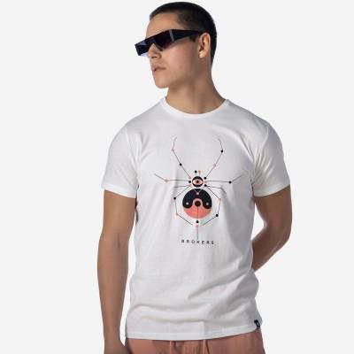 ΑΝΔΡΙΚΟ T-SHIRT ΛΕΥΚΟ SPIDER BROKERS - Λευκό - 21012-210-01-WHITE
