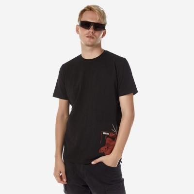 ΑΝΔΡΙΚΟ T-SHIRT ΜΕ ΣΤΑΜΠΑ ΜΑΥΡΟ BROKERS - Μαύρο - 21012-229-04-BLACK