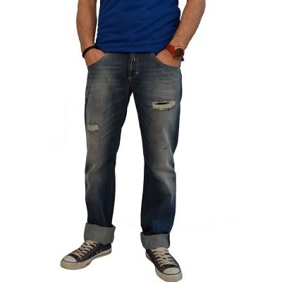 """ΑΝΔΡΙΚΟ ΠΑΝΤΕΛΟΝΙ ΣΕ ΚΛΑΣΣΙΚΗ ΓΡΑΜΜΗ Trial jeans """"Oscar B"""" ΜΠΛΕ"""